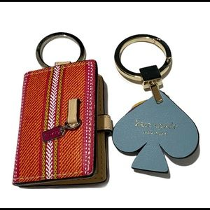 Lot of 2 super cute Keychain kate Spade and Coach